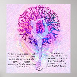 Fertigen Sie dieses Plakat - rosa Yoga Yin Yang