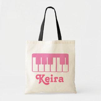 Fertigen Sie eine Klavier-Musik-Taschen-Tasche bes Budget Stoffbeutel