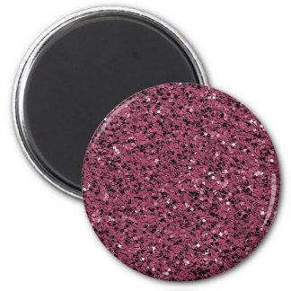 Fertigen Sie ES besonders an! Rose rosa Gltter Hin Runder Magnet 5,7 Cm