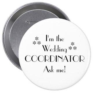 Fertigen Sie Farbe-Hochzeit Koordinator besonders Runder Button 10,2 Cm
