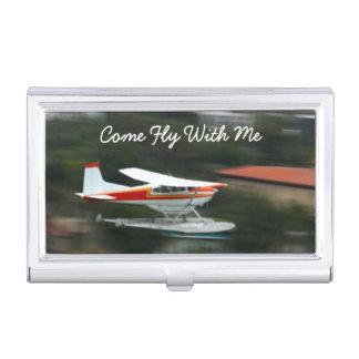 Fertigen Sie Flugzeug im Bewegungs-Foto besonders Visitenkarten Dose