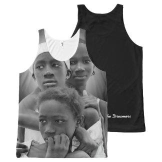 Fertigen Sie Frauen Behälter, afrikanische Frauen, Komplett Bedrucktes Tanktop