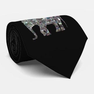Fertigen Sie funkelnd bunten silbernen Mosaik Krawatte