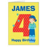 Fertigen Sie Geburtstagskarte des Alters- und Name Karten