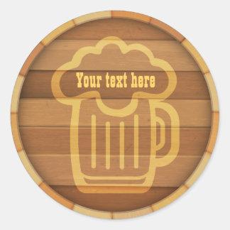 Fertigen Sie Ihr Bier besonders an Runder Aufkleber