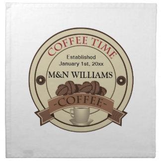Fertigen Sie Ihr Namenskaffee-Zeit-Logo besonders Stoffserviette