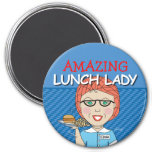 Fertigen Sie Ihre eigene Mittagessen-Dame Magnet Magnete