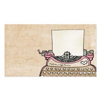 fertigen Sie Ihre Schreibmaschinen-Visitenkarte