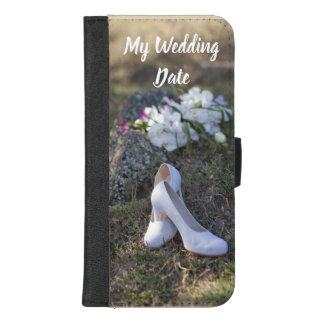 Fertigen Sie Ihren Hochzeits-Datum Iphone iPhone 8/7 Plus Geldbeutel-Hülle