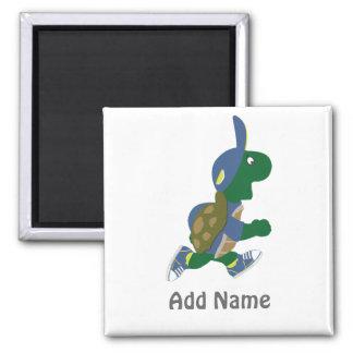 Fertigen Sie laufende Schildkröte besonders an Quadratischer Magnet