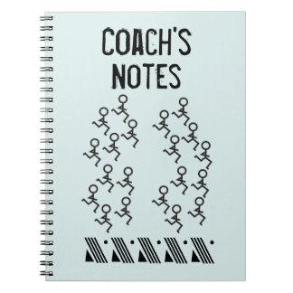 Fertigen Sie - laufenden Trainer besonders an Spiral Notizblock