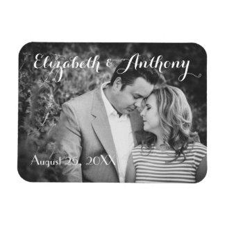 Fertigen Sie mit Foto-Hochzeit besonders an Vinyl Magnet