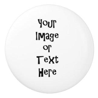 Fertigen Sie mit personalisierten Bildern und Text Keramikknauf