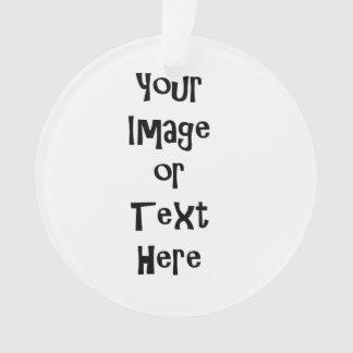 Fertigen Sie mit personalisierten Bildern und Text Ornament