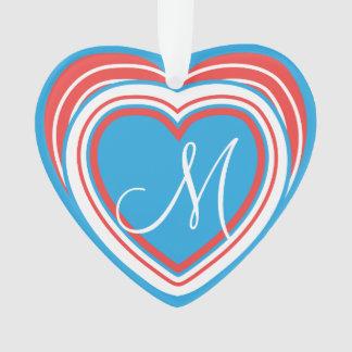 FERTIGEN Sie Monogramm-Herzen besonders an Ornament