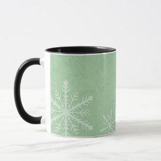 FERTIGEN Sie PERSONIFIZIEREN Schneeflocke-Papier 3 Tasse