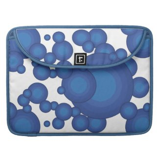 The Blue 70's year styling  MacBook Pro Sleeves