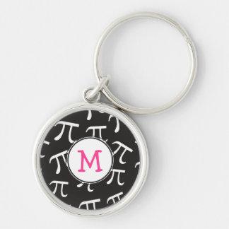 Fertigen Sie ROSA Monogramm-PU - PU-Tagesgeschenk Silberfarbener Runder Schlüsselanhänger