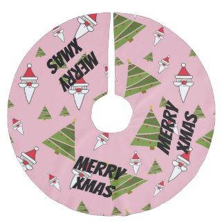 Fertigen Sie Sankt und Weihnachtsbaum besonders an Polyester Weihnachtsbaumdecke