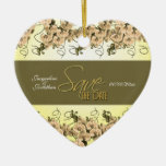 FERTIGEN Sie Save the Date besonders an Weihnachtsbaum Ornamente