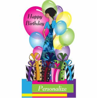 Fertigen Sie Schablone für einen Geburtstag oder Freistehende Fotoskulptur