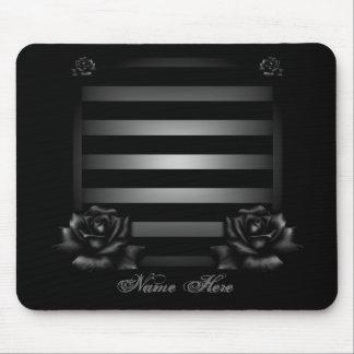 Fertigen Sie schwarzen Rosen-Entwurf besonders an Mauspads