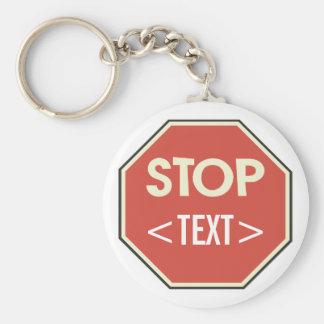 Fertigen Sie Stoppschild-Entwurf besonders an, <TE Standard Runder Schlüsselanhänger