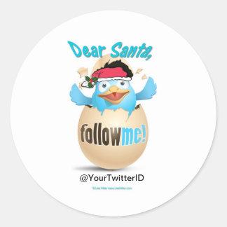 Fertigen Sie Twitter-liebes Sankt-Geschenk-Kleid Runder Aufkleber