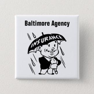 Fertigen Sie Versicherungs-Agenten oder Agentur Quadratischer Button 5,1 Cm