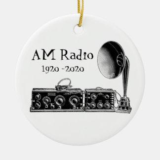 Fertigen Sie Vintages Radiogerät morgens besonders Keramik Ornament