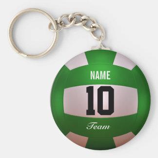 Fertigen Sie Volleyball Forest Green besonders an Standard Runder Schlüsselanhänger