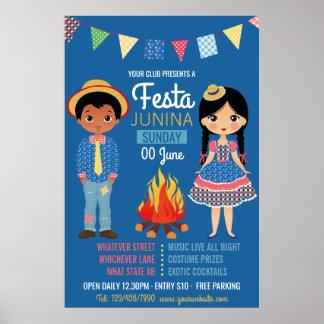 Festa Junina Unternehmens/Verein-Party-Anzeige Poster