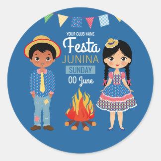 Festa Junina Unternehmens/Verein-Party Runder Aufkleber