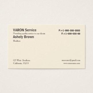 Feste berufliche einfache Geschäfts-Sahnekarten Visitenkarte