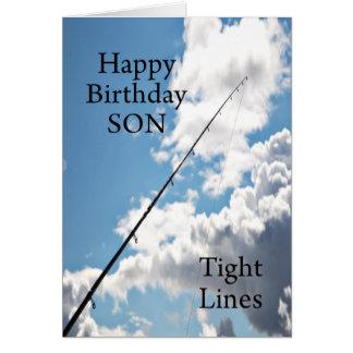 Feste Linien Geburtstagskarte für einen Sohn Grußkarte