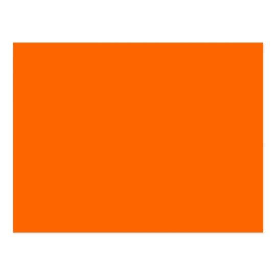 Feste Orange Hintergrund Farbe Ff6600 Postkarte Zazzle