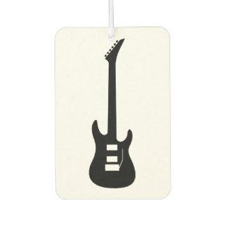 Feste schwarze E-Gitarre Lufterfrischer