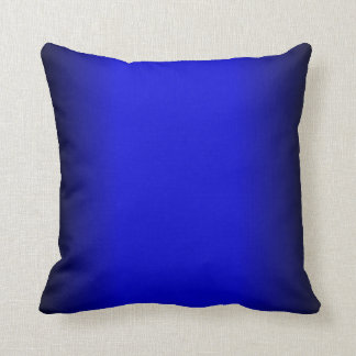 Festes elektrisches Blau Kissen