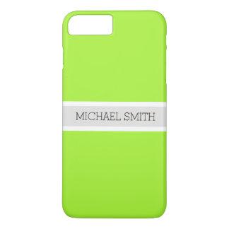 Festes grünes modernes Platin-Band-eleganter Name iPhone 8 Plus/7 Plus Hülle