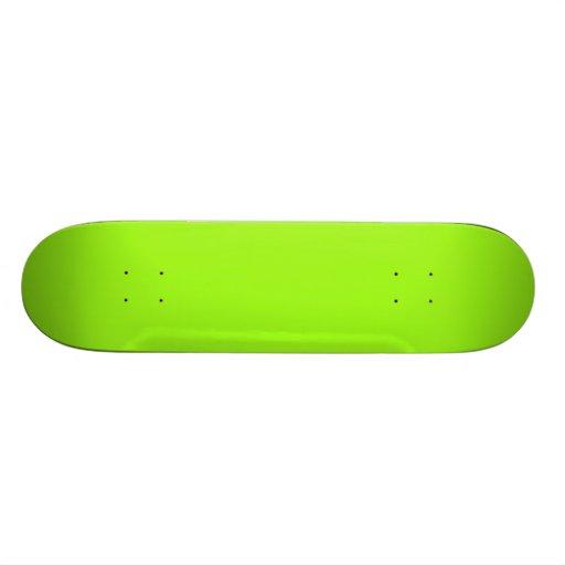 Festes helles Chartreuse grünes Skateboard Personalisierte Decks