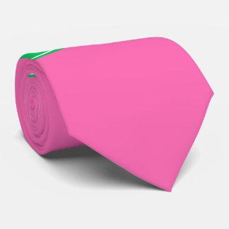 Festes Smaragdgrün Rbn des Pink-#2 Namensmonogramm Krawatte