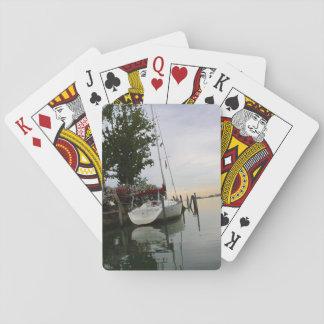 Festgemachter Bootsentwurf Spielkarten