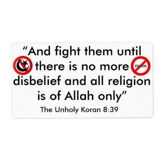 FESTHALTEN ES AN ISLAM VERSAND AUFKLEBER