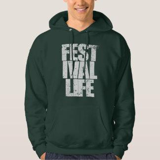 FESTIVAL-LEBEN (weiß) Hoodie