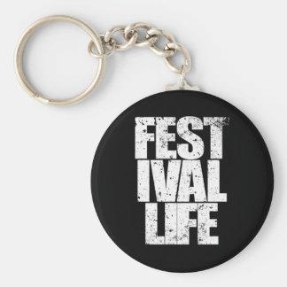 FESTIVAL-LEBEN (weiß) Schlüsselanhänger