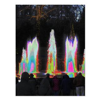 Festival-Licht der Schablonen-DIY der Brunnen-n Postkarte