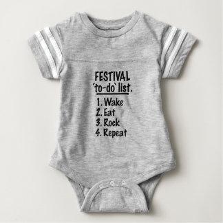 Festival ` zu-' listen auf (Schwarzes) Baby Strampler