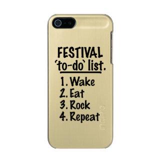Festival ` zu-' listen auf (Schwarzes) Incipio Feather® Shine iPhone 5 Hülle
