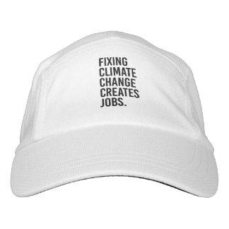 Festlegungs-Klimawandel schafft Jobs - - Headsweats Kappe