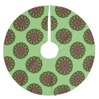 Festliche Blumen-Natur, Mandala für Weihnachten Polyester Weihnachtsbaumdecke